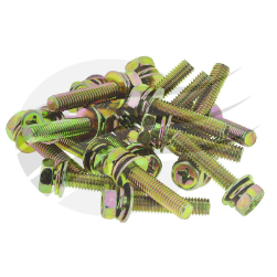 "BS0034 Jaylec Battery Feed Stud Terminal Neg 6-36V 3//8/""-16 Thread Brass"