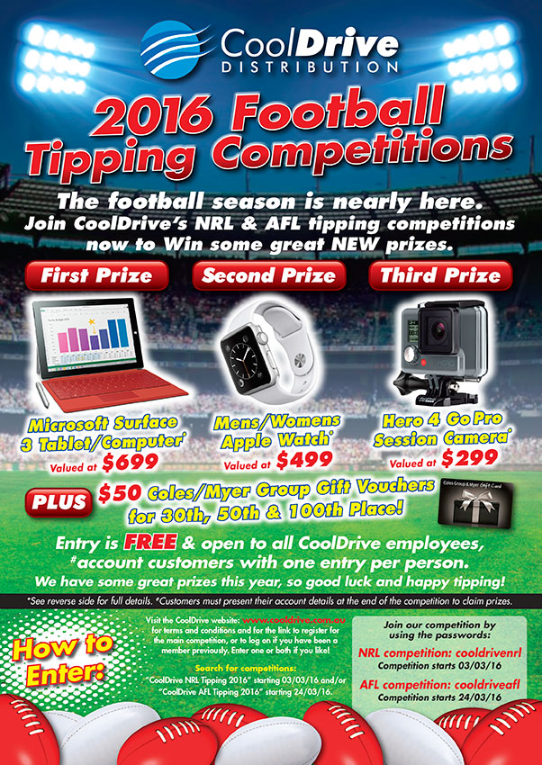 CoolDrive | Footy Tipping Is Back